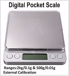 Professional Digital Pocket Scale 2kg/0.1g & 500gm/0.01g