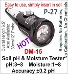 P-27,DM-15 Soil pH and Moisture Tester